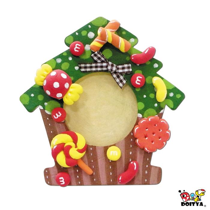 【圣诞节】(超轻土)糖果树相框笔筒